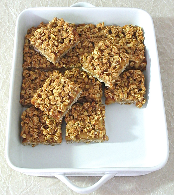 Cinnamon Apple Streusel Bars - big on flavour, made with oats, coconut oil and maple syrup.
