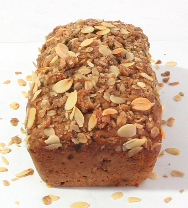 Apricot Almond Streusel Bread Recipe - A rich, soft quick bread, needs no yeast or kneading!
