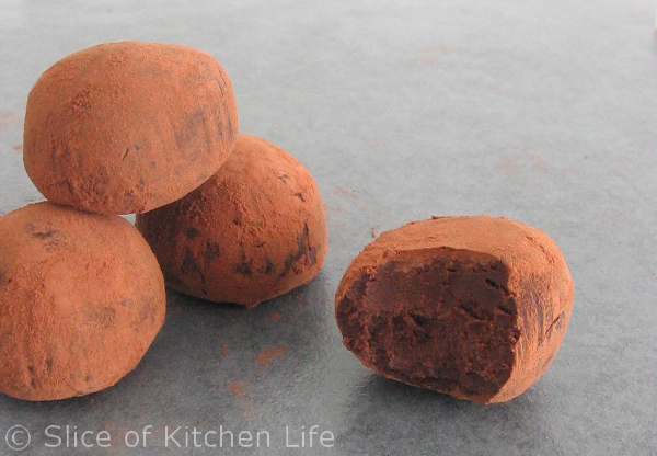 3-Ingredient Dark Chocolate Truffles Recipe - Dairy free, intensely rich chocolate truffles